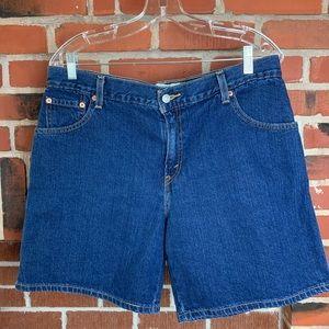 Levi's 550 Relaxed Fit Dark Wash Denim Shorts